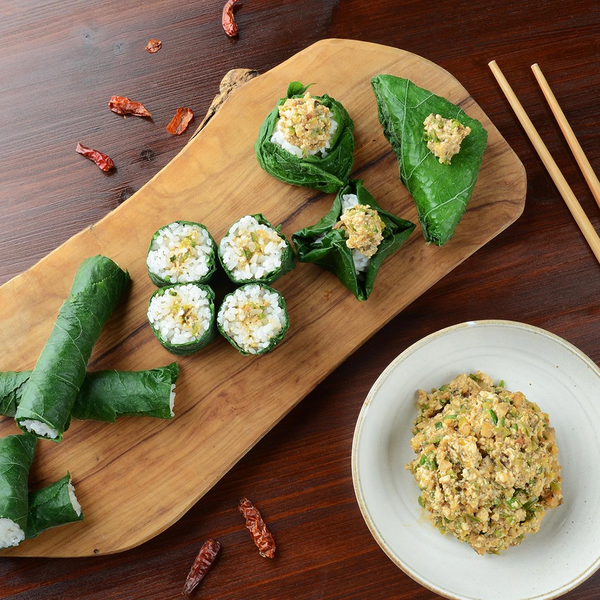 호박잎 쌈밥과 소라 강된장
